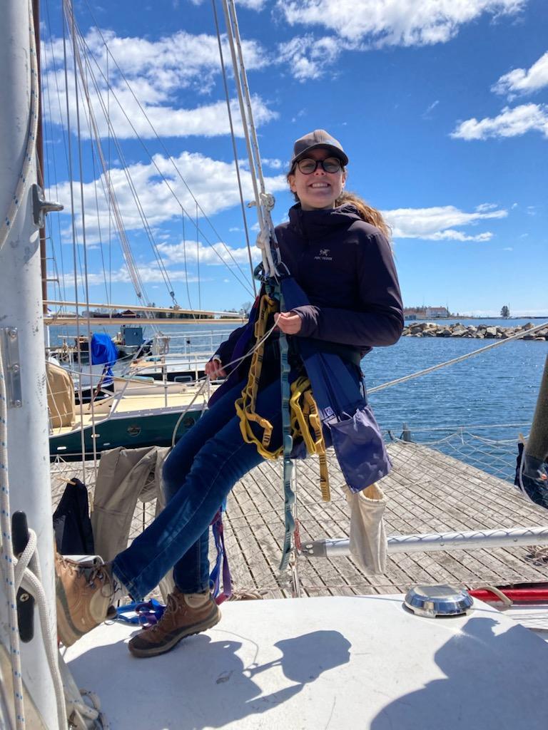 Brandi Going up mast